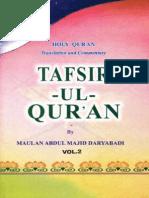 TafseerEMajidi English Volume2 ByShaykhAbdulMajidDaryabadir.A