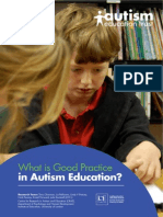 What is Good Practice in Autism Education