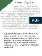 Public Intrest Litigation