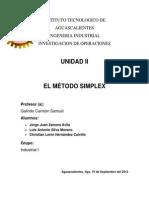 Unidad 2 Metodo Simplex EQ#7