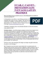 T. Souccar, C. Calvet - L'Alimentation Sans Gluten Et Sans Lait en Pratique