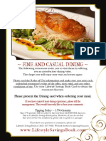 Lifestyle Savings Book -  Fine and Casual Dining