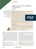 Percutaneous Aponeurotomy and Lipofilling a.43
