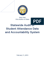 Statewide Audit of Student Attendance Data and Accountability System