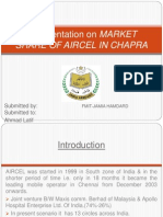 a prestation of market share of aircel in chapra