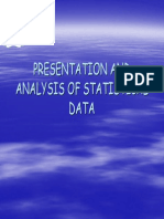 Presentation and Analysis of Statistical Data
