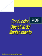 Conduccion Operativa Del Manto