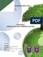 Programa Sistema de Manejo Ambiental de la Facultad de Enfermería
