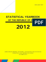 Statistical Yearbook of the Republic of China Taiwan 2012