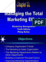 Managing the Total Marketing Effort