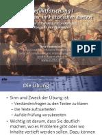 Int. Konfliktforschung I - Woche 02 - Theoretische Grundlagen, Konzepte und Typologien (Übung)