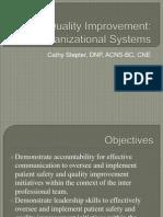 Quality Improvement-Organizational Systems