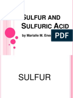 ChE 140 - Sulfur and Sulfuric Acid