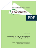 Guidelines on the Use of Urine and Faeces in Crop Production