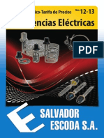 Catalogo Tarifa Resistencias Electricas Nov2012