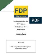 Landesparteitag der FDP Hessen am 8. Februar 2014 - Anträge