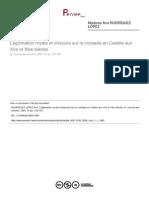 Légitimation royale et discours sur la croisade en Castille aux XIIe et XllIe siècles (A. Rodríguez López)