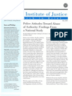 Weisburd, D., Et. Al. - Police Attitudes Toward Abuse of Authority