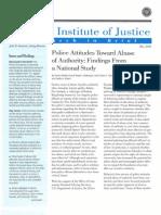 Weisburd, D., Et. Al. - Police Attitudes Toward Abuse of Authority