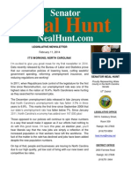 February 2014 Newsletter from Senator Neal Hunt