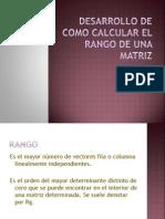 Desarrollo de Como Calcular El Rango de Una Matriz