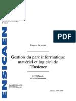 Gestion Du Parc Informatique Materiel Logiciel Ensicaen