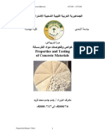 Properties and Testing of Concrete Materials
