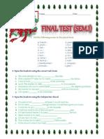 English Intermediate level test