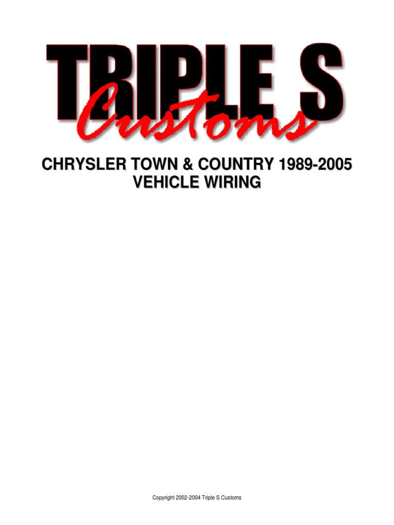 chrysler town and country 1989 2005 wiring diagram 2009 Jeep Wrangler Wiring  Diagram at 2009 Chrysler