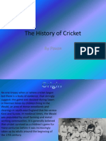 The History of Cricket by Pavan