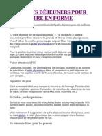 5 PETITS DÉJEUNERS POUR ÊTRE EN FORME.doc