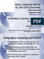 Uaemconference2008 Compulsory Licensing
