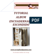 Scrapbookpasion Tutorial Album Encuadernado Escondido