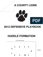 Louisa County Lions 3-3 D-playbook