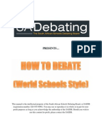 SASDB Handboook How to Debate