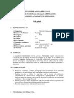 TALLER DE COMUNICACIÓN ORAL Y ESCRITA 2009-II