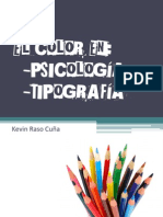 el color en psicología y tipografia Kevin Raso
