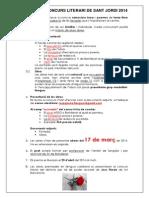 1 Bases Del Concurs Literari de Sant Jordi 2014