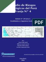 ESTUDIO DE RIESGOS GEOLÓGICOS DEL PERÚ%2C FRANJA N°4%2C 2006