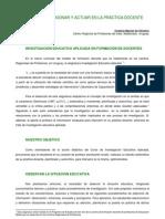 INVESTIGACIÓN EDUCATIVA APLICADA EN FORMACIÓN DE DOCENTES