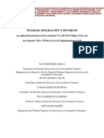 Nulidad, Separación y divorcio- JUAN MONTERO AROCA