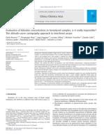 Clinica Chimica Acta Volume 412 Issue 9-10 2011 [Doi 10.1016%2Fj.cca.2011.01.010] Paola Brunori; Piergiorgio Masi; Luigi Faggiani; Luciano Villani -- Evaluation of Bilirubin Concentration in Hemolysed Samples, Is
