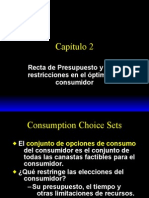 Capitulo 2, Recta Presupuestaria