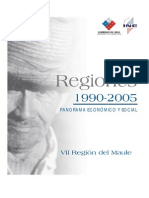Maule Panorama Económico Social, Región del Maule MIDEPLAN 1990-2005