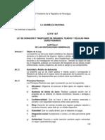 Ley 847 de Trasplante de Organos Nicaragua