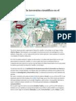 Datos sobre la inversión científica en el mundo