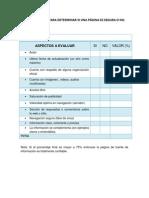 Lista de Cotejo Con Criterios Para La Evaluacion de Una Pagina Web