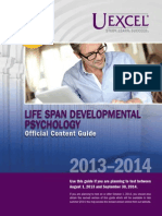 Exam Content Guide Life Span Developmental Psychology