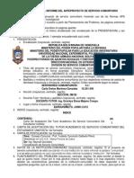 Lineamientos Para El Informe Del Anteproyecto de Servicio Comunitario