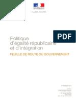 Feuille de Route - Politique Degalite Republicaine Et Dintegration